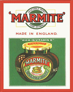 Marmite-Made-In-England-VINTAGE-ENAMEL-METAL-TIN-SIGN-WALL-PLAQUE