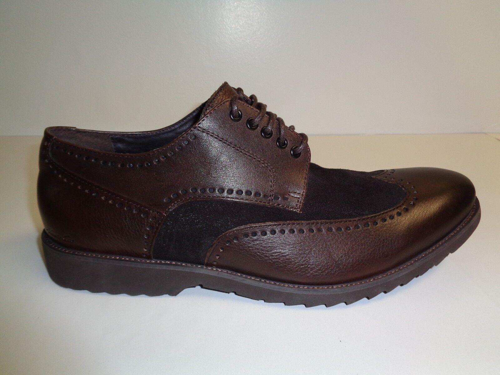 promozioni Kenneth Cole Dimensione Dimensione Dimensione 11 M KNOB OUT Marrone Leather Wingtip Oxfords New Uomo scarpe  migliore vendita