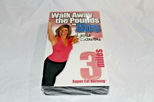 Walk-Away-The-Pounds-For-Abs-VHS-3-Miles-Leslie-Sansone-Super-Fat-Burning