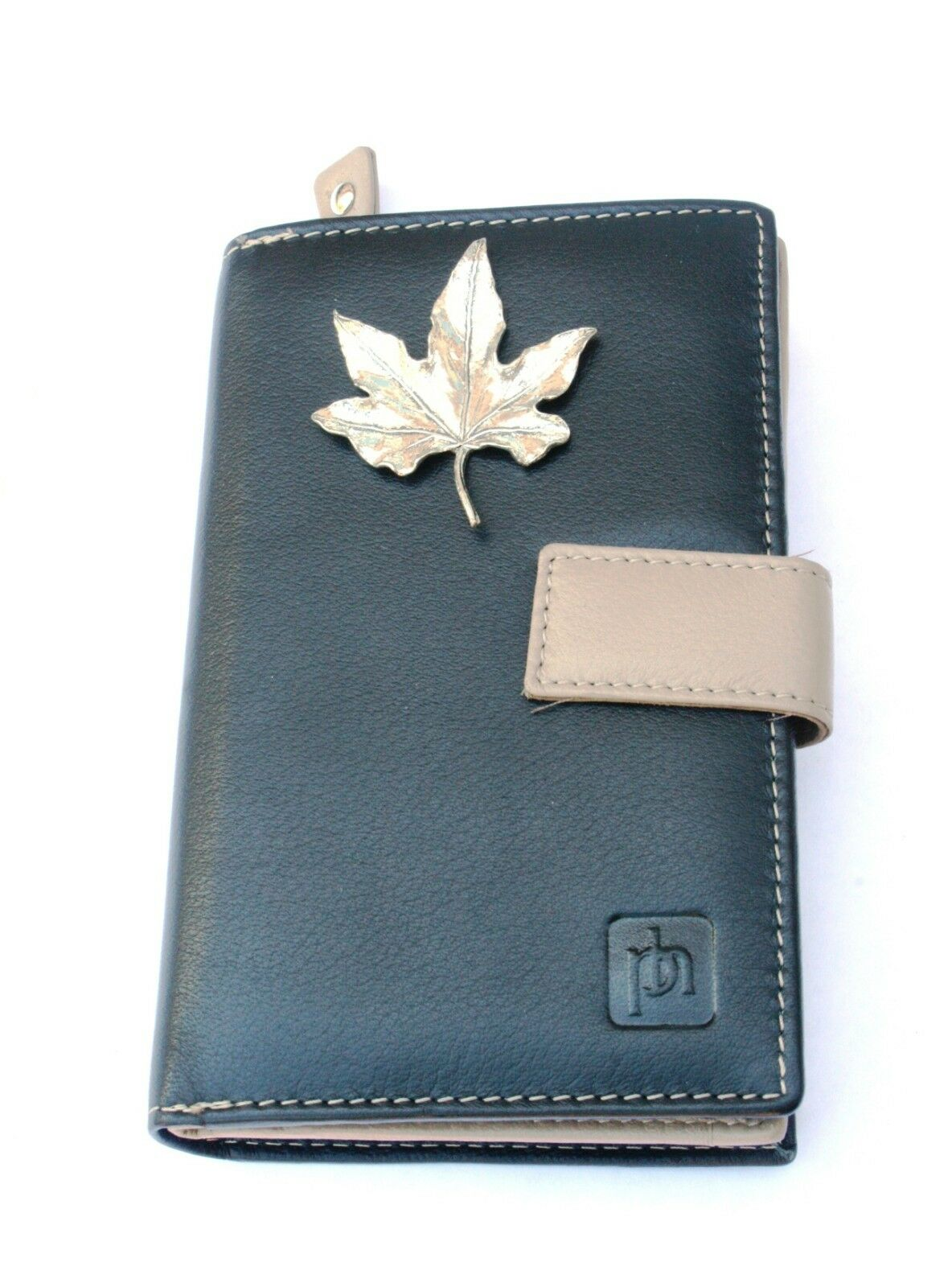 Leaf Large Design Leather Purse with Zipped Pocket RFID Safe Women's Gift 215