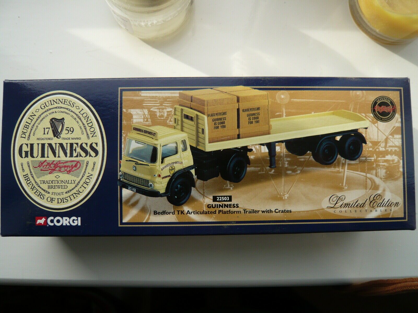 Corgi 22503 Bedford TK Artic Platform Trailer & Guinness Ltd E , Excellent Boxed