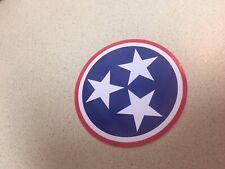 ROUND Tennessee 3 Stars Logo Sticker Red White and Blue 4x4inch