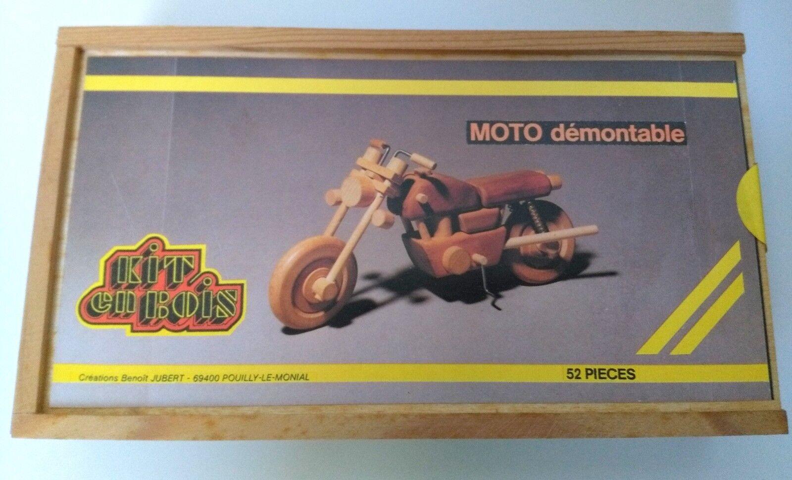Maquette Moto démontable- Kit en Bois- Création  B.Jubert -