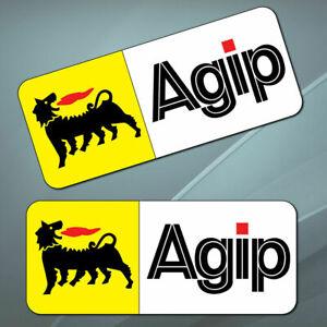 2-PVC-Vinyle-Autocollants-Eni-Agip-Petrole-Sponsor-Stickers-Voiture-Auto-Moto-GP