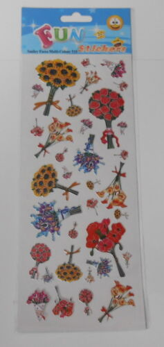 FUN STICKERS-FLORAL BOUQUET EMBELLISHMENT STICKERS FOR CARDS AND CRAFTS