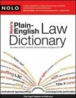 Nolo's Plain-english Law Dictionary by Press Nolo 9781413310375