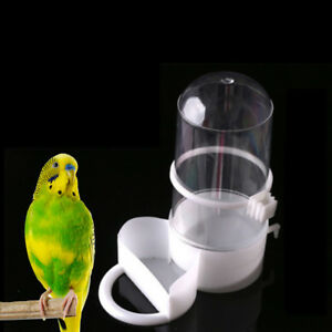 bird-pet-drinker-feeder-automatic-food-waterer-clip-aviary-cage-parrot-budgie-CY