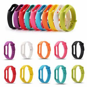 Armband-Ersatz-fuer-Xiaomi-1S-Mi-Band-Fitness-Tracker-verschiedene-Farben-Groessen