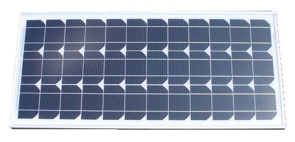 HORIZONT PROFI Solar-Modul Solarpanel, monokristallin, 50Watt ink