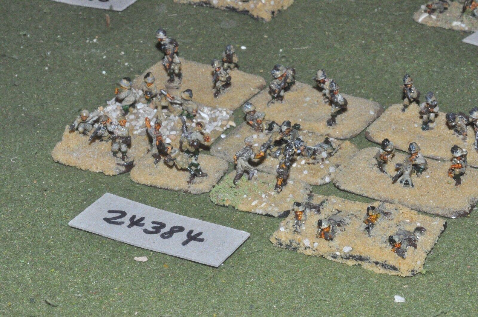15mm WW2   italian - platoon 33 figures - inf (24384)