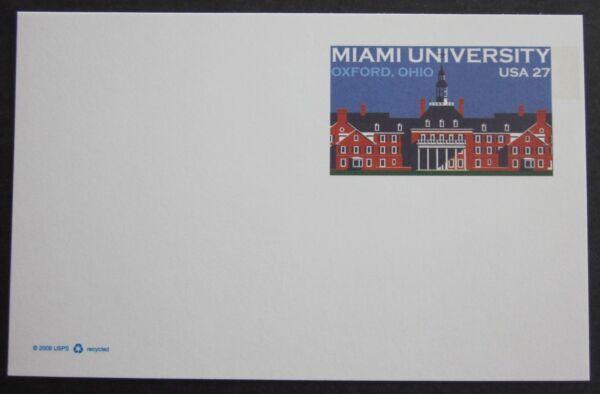 Actif Médecine Science Université Miami Oxford Ohio Usa 2008 Carte Postale