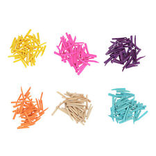 250pcs 6 Size Dental Wooden Interdental Wedges Contoured Matrices Wedge 6 Color