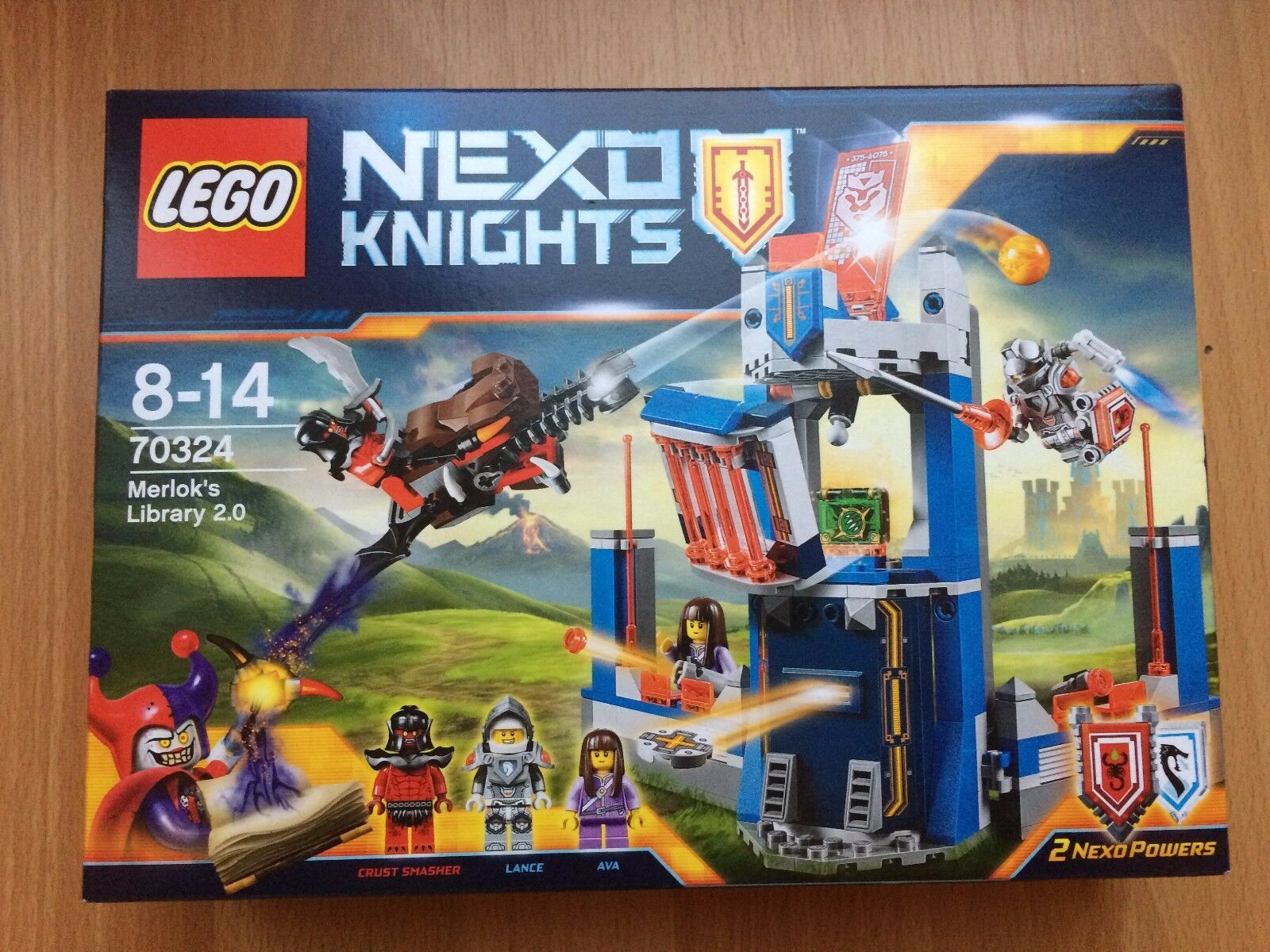 REAL LEGO NEXO KNIGHTS MERLOCK'S LIBRARY 70324 HUC AVA ACCESSORY & BOOK