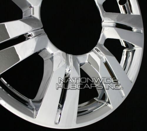 "fits 2010-16 Cadillac SRX CHROME 18/"" Full Wheel Skins Hub Caps Center Rim Covers"