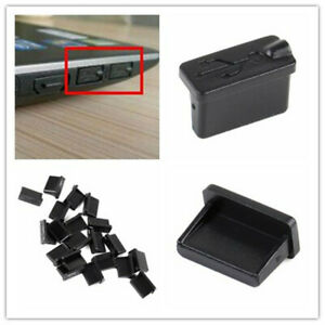 10pcs Black Rubber A Type Female USB Anti Dust Protector Plugs Stopper CoveBLCA