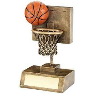 Details about RESIN BASKETBALL TROPHY SHOOTING NET WITH BALL AWARD FREE  ENGRAVING RF315A B20