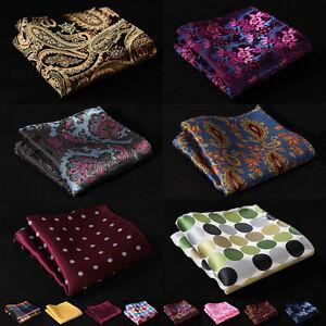 Check Paisley Floral Men Silk Satin Handkerchief Pocket Square Hanky Wedding #B6