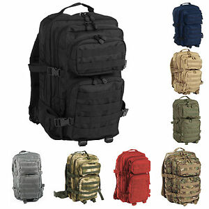 Mil-Tec-US-Assault-Pack-Gute-Qualitat-Large-und-Small-Armeerucksack-Rucksack
