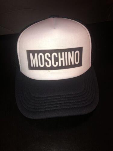 Moschino1235 Inspired Black And White Trucker Cap Hat