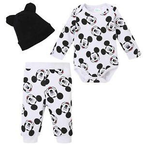 9e6c7c371b834 Disney Mickey Mouse Bébés Garçons Fille Tenue Vêtements Set Cadeau ...