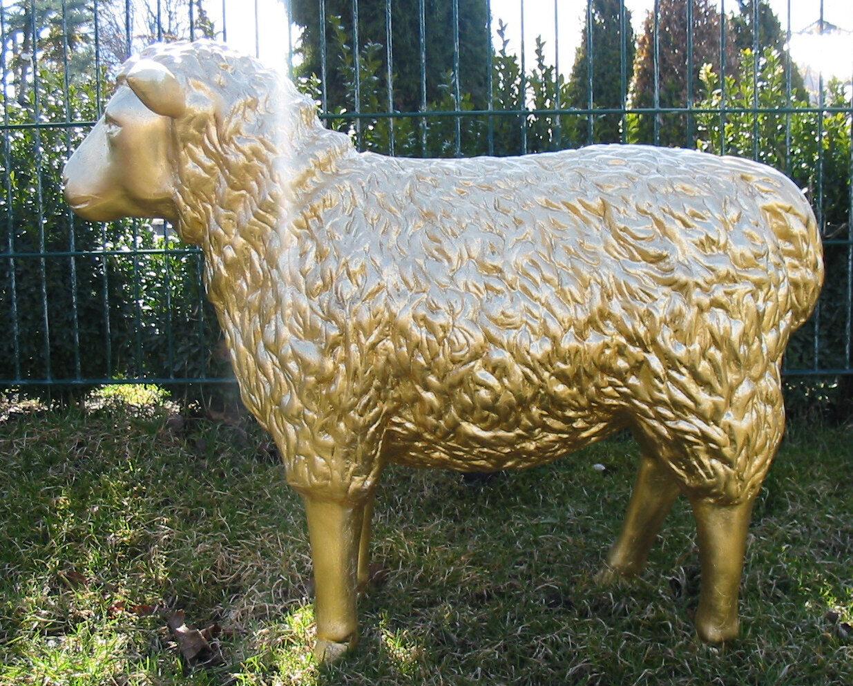 SCHAF 70 cm Deko Deko Deko Garten Gartenfigur Werbefigur Figur BLATTGold Tier Bauernhof 428b90