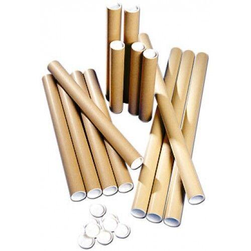 Tubes A3 postaux-Qualité extra forte carton A4 A3 Tubes A2 A1 A0 + embouts en plastique 554297