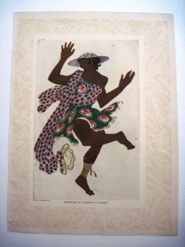 "1910 & 12 Double-Sided ""Leon Bakst"" Print From Metropolitan Opera Publication *"