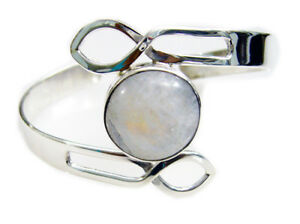 White-925-Sterling-Silver-genuine-enticing-Rainbow-moonstone-jaipur-Bracelet-AU