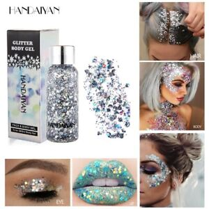 Face-Body-Glitter-Paste-Cream-Highlighter-Gel-Hair-Paint-Cosmetic-MakeupTool
