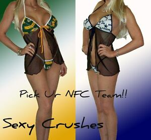 NFL-Lingerie-SEXY-Babydoll-Set-Pick-Ur-NFC-Team-Top-and-G-String-Panty