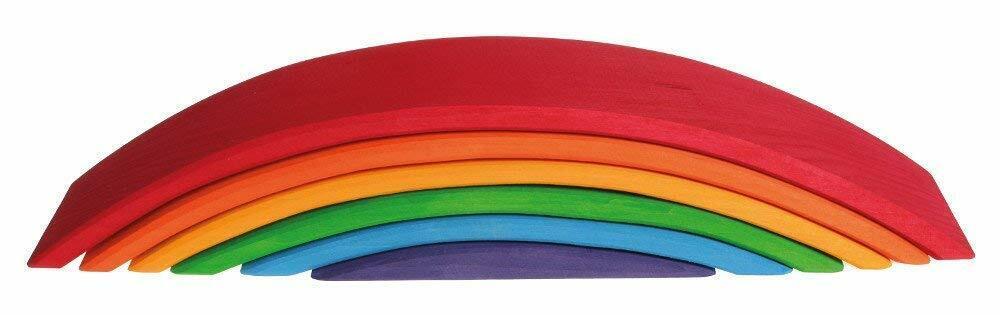 Grimm s spel and trä Design 10686 Rainbow Bridge färglös 6 -stycke
