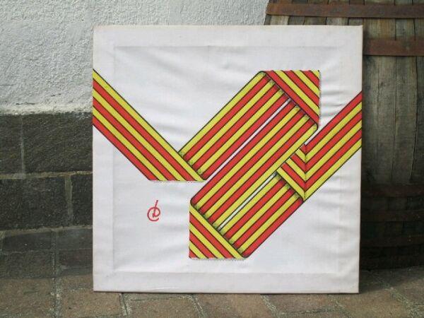 Responsable Imagen Original Arte Contemporáneo Años '70 En Tela 70x70cm