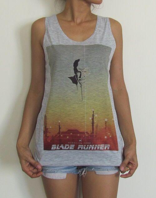 Blade Runner Vest Tank Top Singlet Raglan Baseball 3/4 Short Sleeve T-Shirt