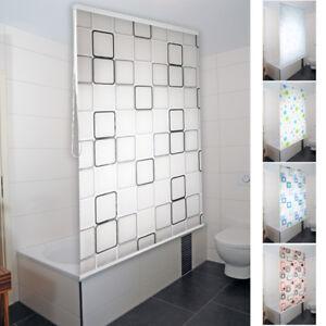 Duschrollo Duschvorhang Badewannenvorhang Halbkassette Rollo für Bad ...