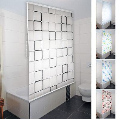 Halb-Kassetten Duschrollo Duschvorhang Dusche Rollo Seilzug Badewannen-vorhang