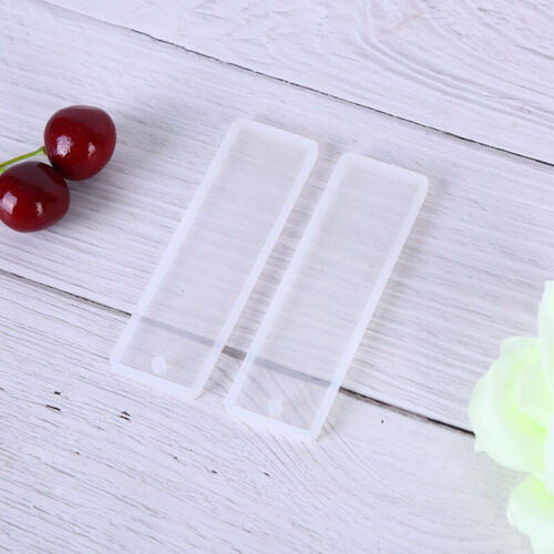 3pc Silicone Rectangle Bookmark Mould Epoxy Resin Jewelry Making Bookmark DD