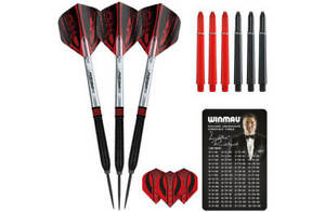 Ted-Hankey-Black-Onyx-90-Tungsten-Steel-Tip-Darts-by-Winmau-24g
