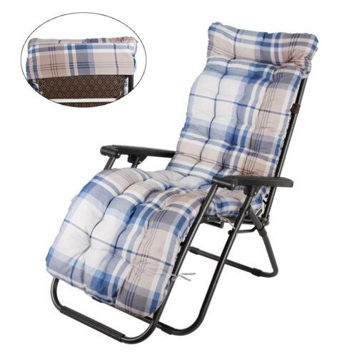 Replacement Sun Lounger Cushion Pad Outdoor Garden  Chair Seat Recliner Cotton
