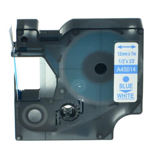 Schriftband Kompatibel für D1 45010 45013 45803 Etikettenband 6//9//12//19mm X 7m