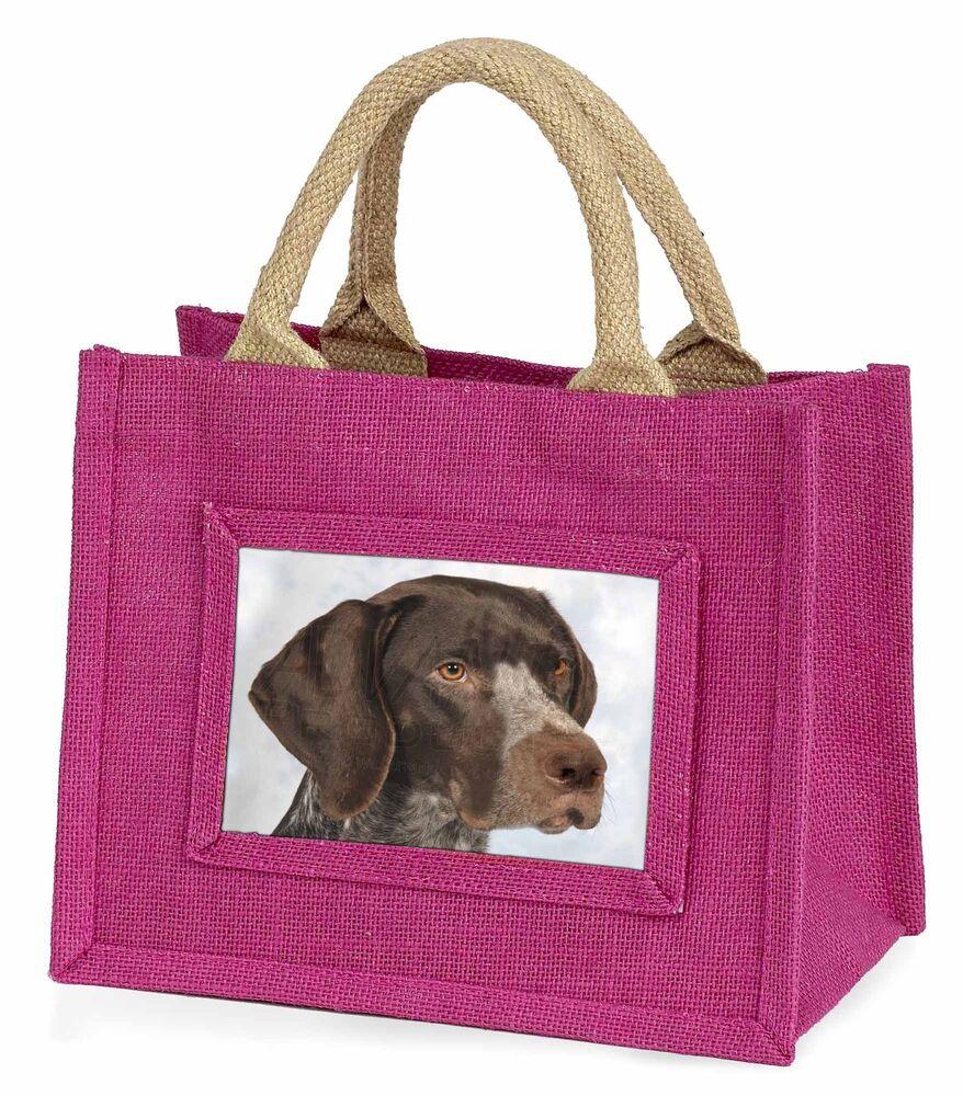 La Fourniture German Pointer Dog Little Girls Small Pink Shopping Bag Christmas Gif, Ad-pg2bmp Plus De Rabais Sur Les Surprises
