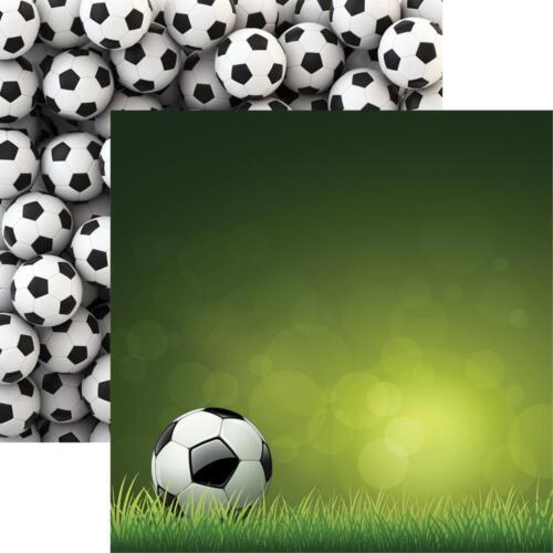 """Reminisce Soccer Double-Sided Cardstock 12/""""X12/"""" Scrappapier Fußball 30,5x30,5 cm"""