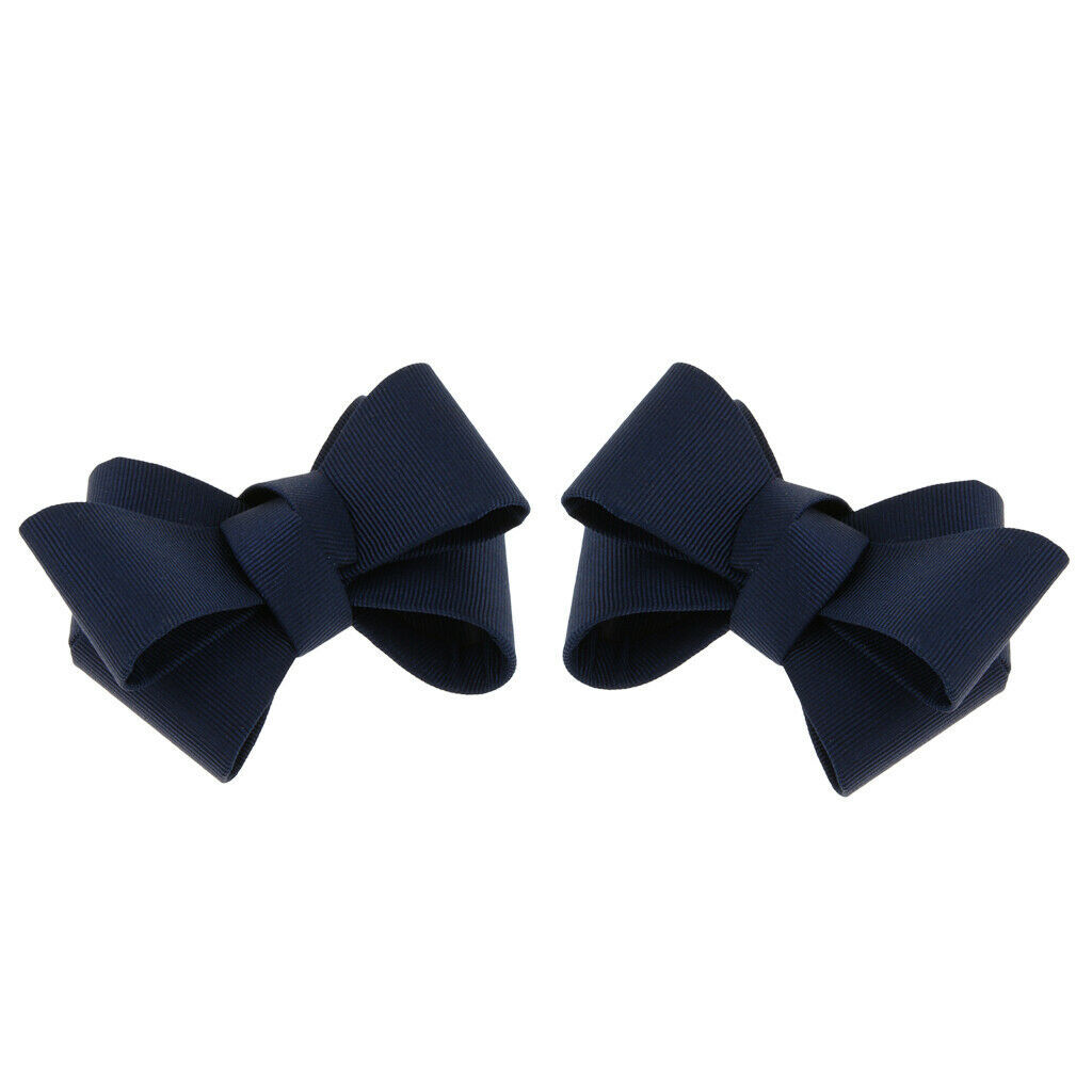 Prettyia 2x Bridal Bowknot Shoe Buckle Removable High Heel Shoe Clips Charms