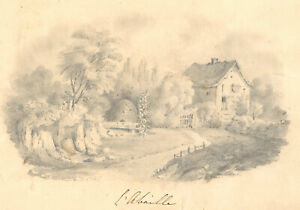 Early 20th Century Graphite Drawing - L'Abeille