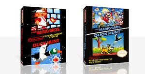 Super Mario Bros Duck Hunt Nes Spare Game Case Box Cover Art