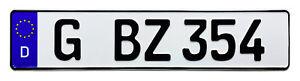 German-European-License-Plate