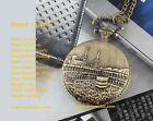 Antiguo Vintage Retro Estilo Collar Cadena Colgante De Bolsillo Reloj Steampunk
