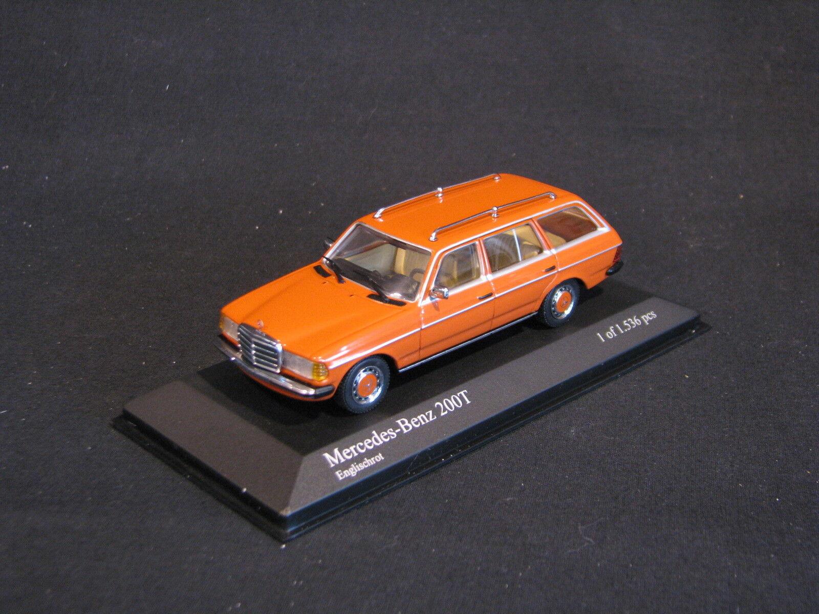 Minichamps Mercedes-Benz 200 T 1980 1 43 arancia (JS)