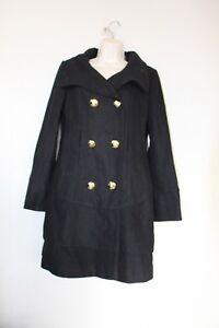 Guess Sleeve Los M Size Long Womens Black Trench Angeles Coat vxdvfZpnI