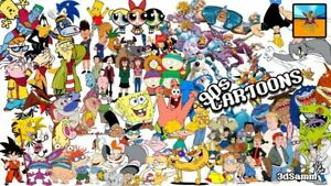 Details about 90's CARTOONS Classic Kids TV Cartoon Shows From 70s 80s 90s  Poster Art Prints A