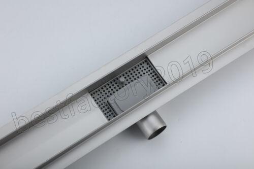 Edelstahl Duschrinne Bodenablauf Abflussrinne Duschablauf Ablauf Rinne Küche Bad